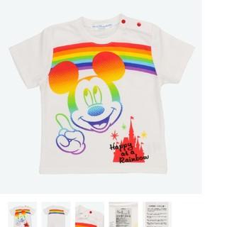 ミッキーマウス(ミッキーマウス)のミッキー Tシャツ ベビー 90サイズディズニーランド (Tシャツ/カットソー)