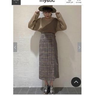 mystic - mystic チェックスカート