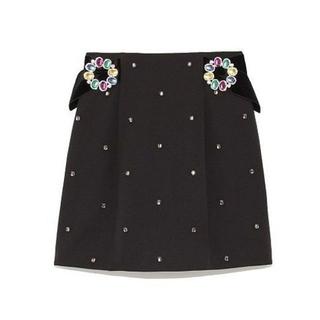 Lily Brown - 新品★L.B CANDY STOCK ビジュ—バックル台形スカート