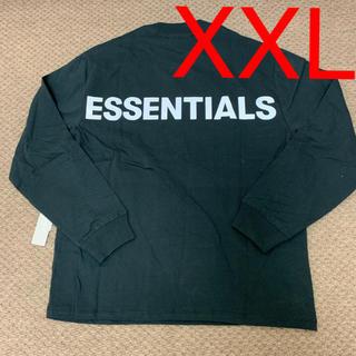 フィアオブゴッド(FEAR OF GOD)のXXL Fear Of God Essentials Long sleeve 黒(Tシャツ/カットソー(七分/長袖))