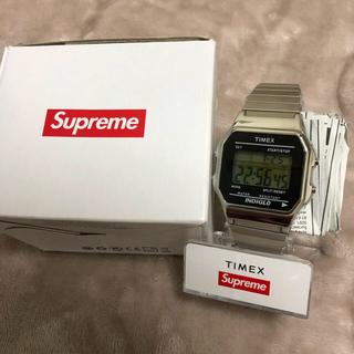 supreme×timex 腕時計 シルバー
