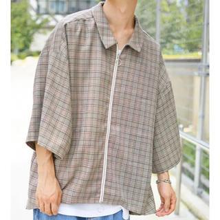 レイジブルー(RAGEBLUE)のkutir フルジップハーフスリーブシャツ(シャツ)