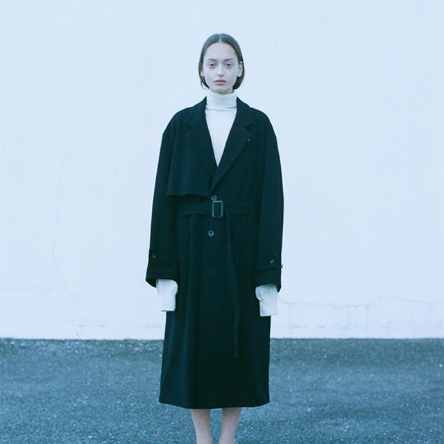 最終値下げ!stein LAY CHESTER COAT・BLACK メンズのジャケット/アウター(チェスターコート)の商品写真