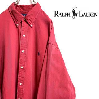 ラルフローレン(Ralph Lauren)の〔レアカラー〕ラルフローレン チノシャツ ワンポイント 刺繍ロゴ ビッグサイズ(シャツ)