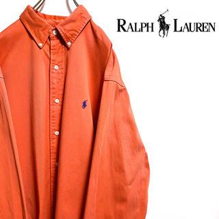 ラルフローレン(Ralph Lauren)の〔レアカラー〕ラルフローレン チノシャツ ワンポイント 刺繍ロゴ オーバーサイズ(シャツ)