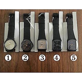 カシオ(CASIO)の【新品】CASIO カシオ チープ シンプル レディース メンズ(腕時計)