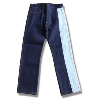 SUNSEA - khoki denim by pants