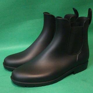 サイドゴア ショート ラバー レインブーツ Lサイズ ブラック(レインブーツ/長靴)