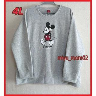 ミッキーマウス(ミッキーマウス)の【新品☆】Disney ミッキー トレーナー(裏起毛)ゆったり☆4L(トレーナー/スウェット)