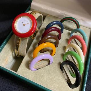 Gucci - ジャンク品 GUCCI チェンジベゼル Sサイズ レディース腕時計