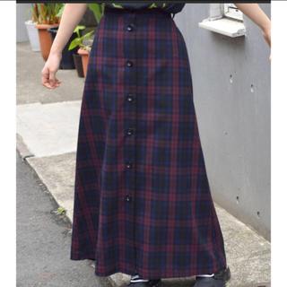 ダブルクローゼット(w closet)のw closet チェック ロングスカート(ロングスカート)