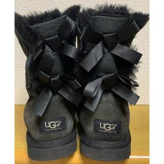 UGG - 【 UGG 】後ろ2段リボン ♬ 可愛い ♬ 23cm ♬ ブラック ♬