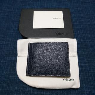 ヴァレクストラ(Valextra)の【新品未使用】Valextra マネークリップ/ネイビー(折り財布)