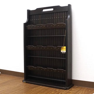 カリモクカグ(カリモク家具)のオールドカリモク Karimoku スリッパラック 鋲打 木製 収納 家具 (玄関収納)