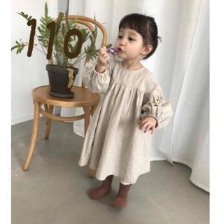 ZARA KIDS - 韓国子ども服 リネン ワンピース 110 ベビー服 可愛い ナチュラル