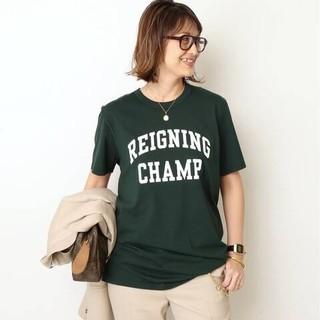 DEUXIEME CLASSE - ドゥーズィエムクラス REIGNING CHANP ロゴTシャツ