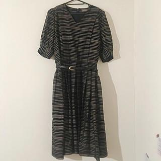 ワンピース 黒 ゴールド ボーダー ドレス(ロングワンピース/マキシワンピース)