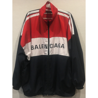 Balenciaga - 18AW BALENCIAGA ジップ ナイロン ロゴ ジャケット
