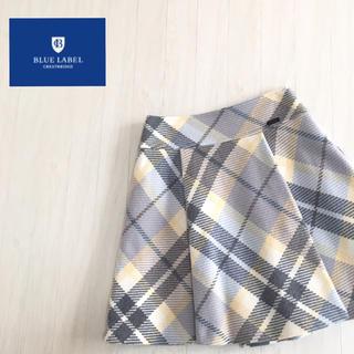 良品☆ブルーレーベルクレストブリッジ ウール スカート 34サイズ