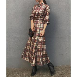 Ameri VINTAGE - アメリ アメリヴィンテージ チェックマーメイドドレス