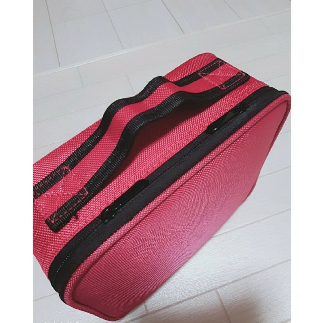 メイクボックス 大容量 ピンク コスメ/美容のメイク道具/ケアグッズ(メイクボックス)の商品写真