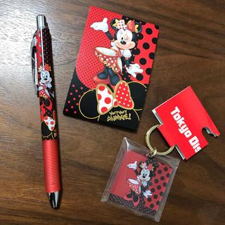 Disney - ディズニーランド ベリーベリーミニー ボールペン メモ帳 キーチェーン ミニー