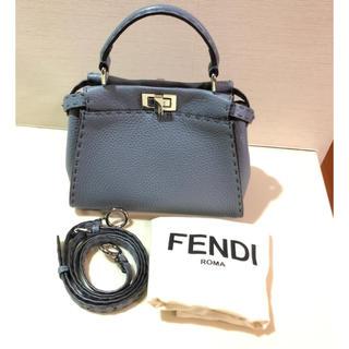 FENDI - FENDI ミニピーカブー  セレリア  グレー
