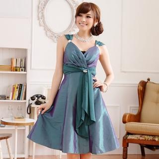 大きいサイズ レディース ブローチ付きドレス (その他)