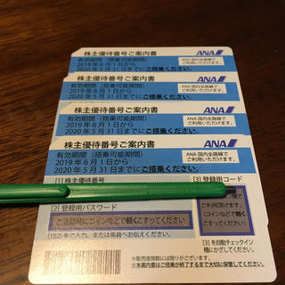 ANA(全日本空輸) - ANA  株主優待券 4枚セット