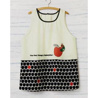 学研 - はらぺこあおむし りんごモノトーンエプロン 保育士