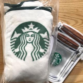 スターバックスコーヒー(Starbucks Coffee)の《新品》スターバックス★ジッパーバック&ブランケット★2019福袋(キャラクターグッズ)