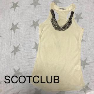 スコットクラブ(SCOT CLUB)のパーティーにも スコットクラブ   ビジュー トップス(カットソー(半袖/袖なし))
