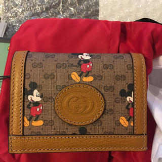 Gucci - 未使用品☆GUCCI ミッキーコラボ 折財布