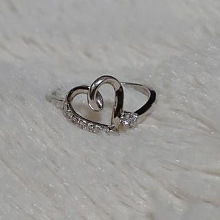 ヨンドシー(4℃)のK10 ホワイトゴールド ダイヤモンドリング(リング(指輪))