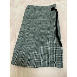 アニエスベー(agnes b.)の美品 チェックロングタイトスカート(ロングスカート)