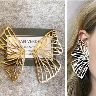 Ameri VINTAGE - 大人気なため再入荷!tear drop ring butterfly ピアス