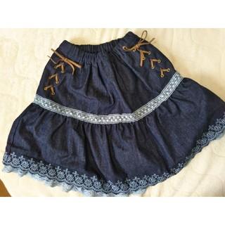 axes femme - アクシーズファムキッズ 編み上げインパンスカート