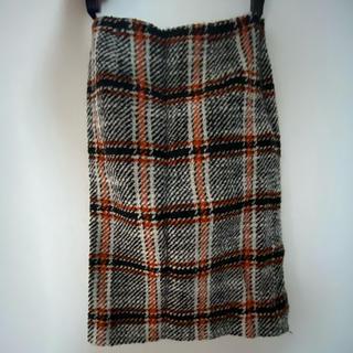 ナチュラルビューティーベーシック(NATURAL BEAUTY BASIC)のナチュラルビューティー スカート チェック ツイード(ひざ丈スカート)