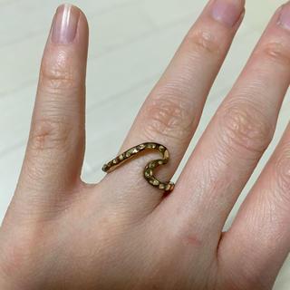 ウェーブリング リング ゴールド 金色(リング(指輪))
