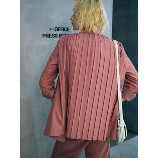 Ameri VINTAGE - 人気即完売 バックプリーツジャケット ピンク