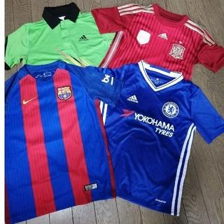 adidas - ジュニアサッカーシャツ他4点セット 130-140サイズ