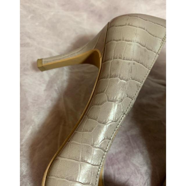 DIANA(ダイアナ)の銀座ダイアナ クロコ型押し パンプス 22美品 レディースの靴/シューズ(ハイヒール/パンプス)の商品写真