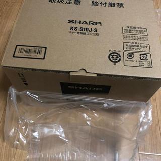 SHARP - シャープ 炊飯器 黒厚釜&球面炊き シルバー