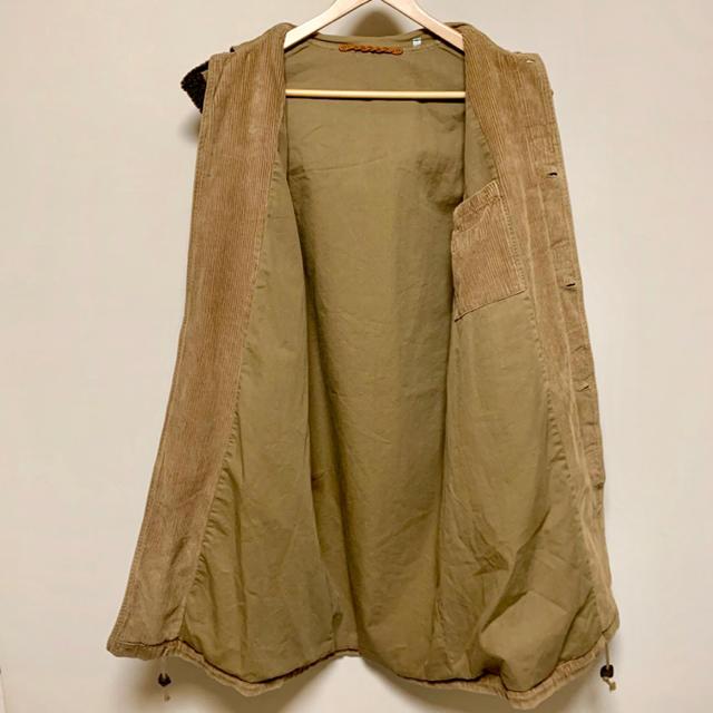 ヴィンテージ風 ロングコート コーデュロイ ブラウン シングルブレスト 茶色 メンズのジャケット/アウター(その他)の商品写真