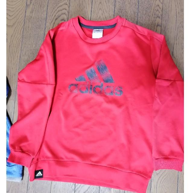 adidas(アディダス)のアディダス ジュニア140サイズ トレーナー2点セット キッズ/ベビー/マタニティのキッズ服男の子用(90cm~)(Tシャツ/カットソー)の商品写真