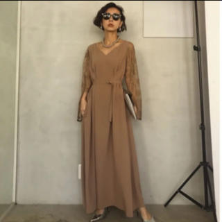 Ameri VINTAGE - アメリヴィンテージ ワンピースLACE SLEEVE REFINED DRESS