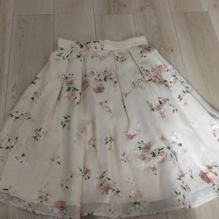 LAISSE PASSE - 【未使用】ピンク×花柄スカート
