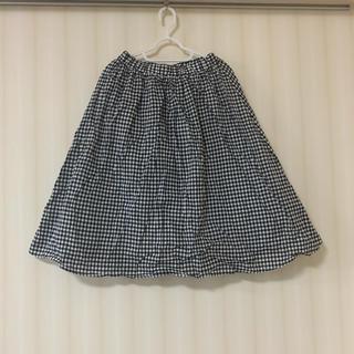 ハニーズ(HONEYS)のギンガムチェック ミディアム丈スカート(ひざ丈スカート)