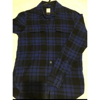 GAP - GAP 青・黒チェックシャツ Mサイズ