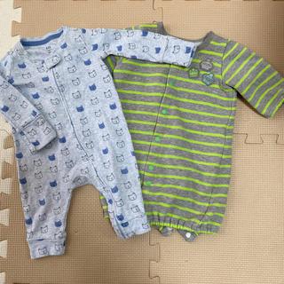 ベビーギャップ(babyGAP)の新生児 ロンパース 2枚セット(ロンパース)